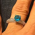 Other Blue WGP CZ paved evening ring new without tags Image 2