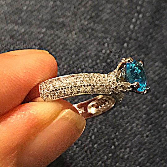 Other Blue WGP CZ paved evening ring new without tags Image 3