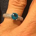 Other Blue WGP CZ paved evening ring new without tags Image 4