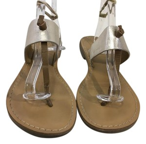 rebels Top Foot Knot Gold and brown leather leather lining and insoles flat slip on thong flip flop Sandals
