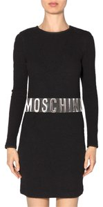 Moschino * Moschino Leather Logo Embellished Belt