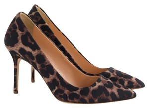 J.Crew Geniune Leopard Pointed Toe Dusty Cedar Pumps