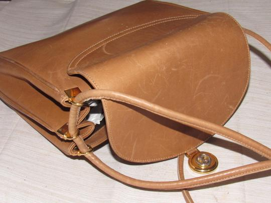 Gucci Mint Vintage Expandable Sides Early 60's Mod Leather/Gold Envelope Top Purse Shoulder Bag Image 11