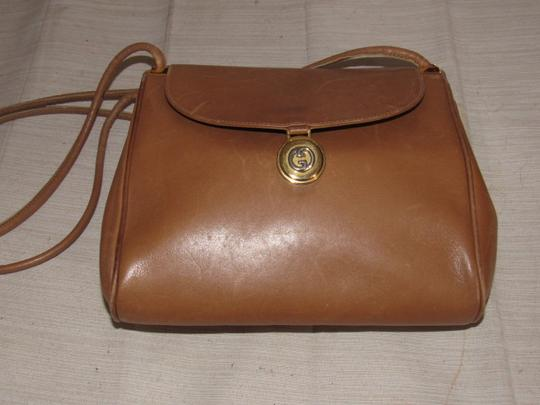 Gucci Mint Vintage Expandable Sides Early 60's Mod Leather/Gold Envelope Top Purse Shoulder Bag Image 4