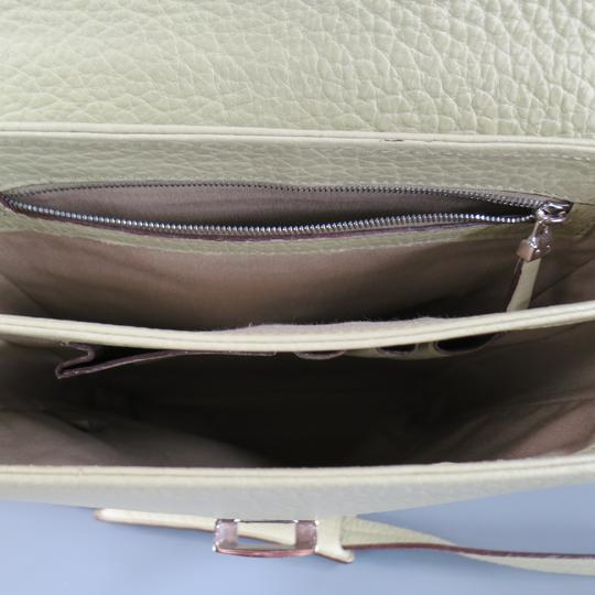 Bally Leather Textured Italian Silver Hardware Vintage Cross Body Bag Image 8
