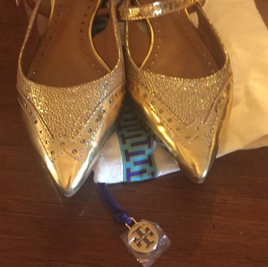 Tory Burch gold Flats Image 5