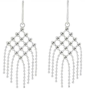Tiffany & Co. Tiffany & Co. Fringe 18k white gold dangle drop earrings.