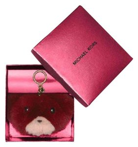 Michael Kors Michael Kors Fur Teddy Bear Pom Charm Keychain with BOX NWT