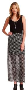black, white Maxi Dress by Vince Camuto
