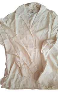 Talbots Silk Longsleeved Top ivory