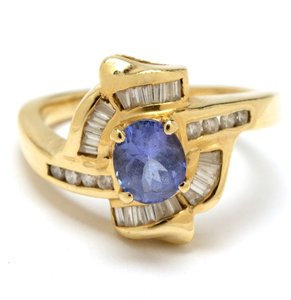 Other 14K Yellow Gold Tanzanite and Diamond Ring