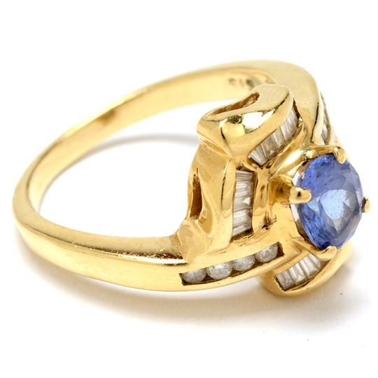 Other 14K Yellow Gold Tanzanite and Diamond Ring NEW LOWER PRICE !!!!!!!!!!! Image 2