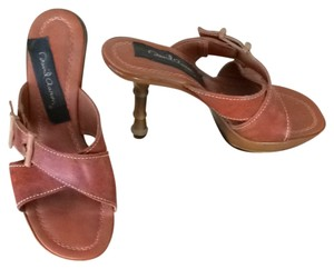 David Aaron Cognac Sandals