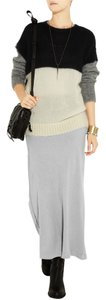 James Perse Drawstring Knit James Maxi Skirt gray