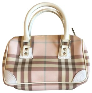 Burberry Satchel in Pink Plaid
