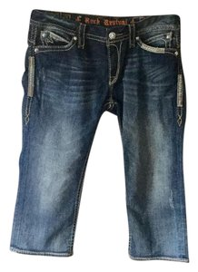 Rock Revival Capri/Cropped Denim-Medium Wash