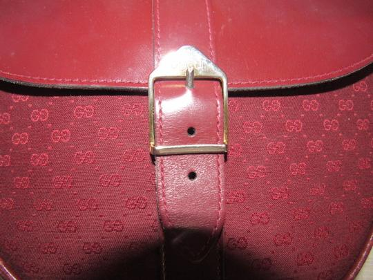 Gucci Early Equestrian Hardware Canvas/Leather Rare Color Mint Vintage Shoulder Bag Image 4