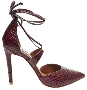 Steve Madden Crocodile Tie Wine Croco Pumps