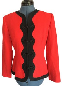 Carlisle Vintage Red and Black Blazer