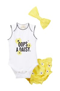 Kate Spade SIZE 6M NIB 'oops-a-daisy' gift set (Baby Girls)