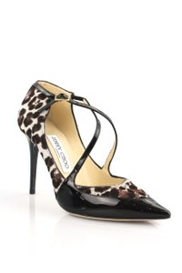 Jimmy Choo Black, Leopard Print Pumps