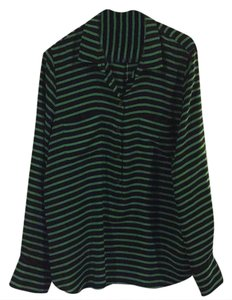 J.Crew Top Navy and green