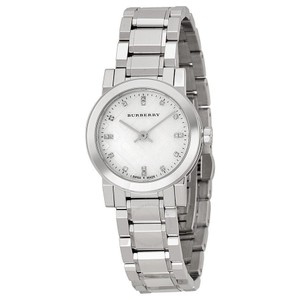Burberry Burberry Stainless Steel Watch with Diamond Markers