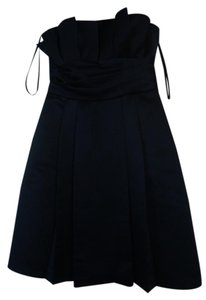 Priscilla of Boston Pleated Strapless Bridesmaid Dress
