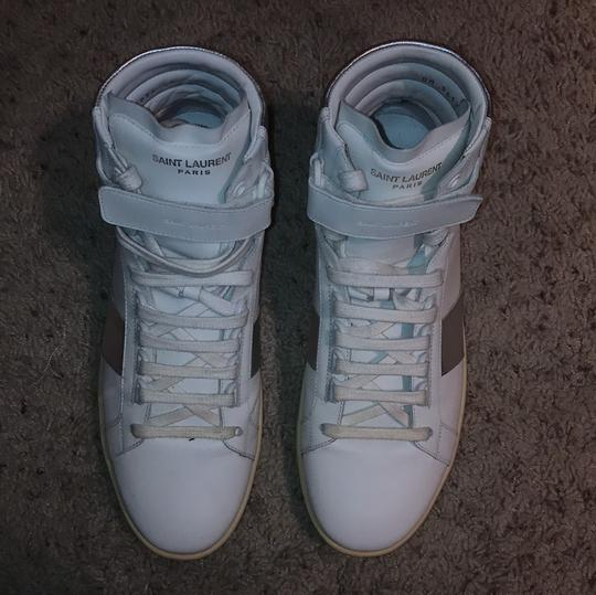 Saint Laurent MEN - White, Off White and Silver Athletic Image 2