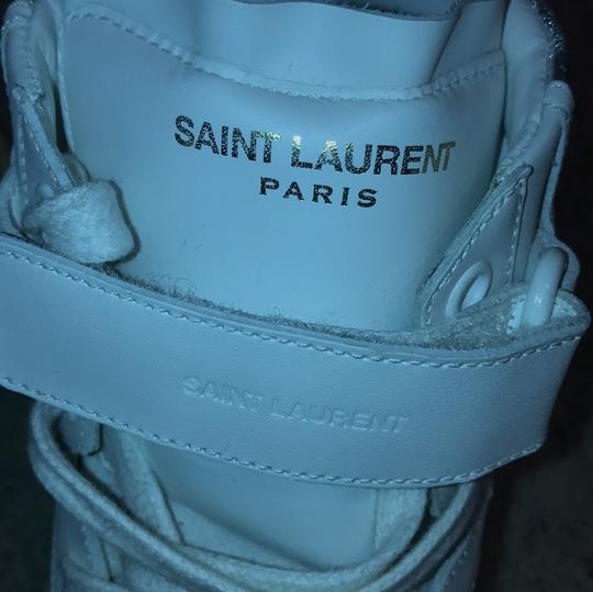 Saint Laurent MEN - White, Off White and Silver Athletic Image 7