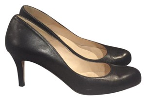 L.K. Bennett Samira Leather Black Black Leather Pumps