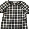 Elorie Top black/white and blue plaid Image 0