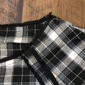 Elorie Top black/white and blue plaid Image 2
