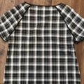 Elorie Top black/white and blue plaid Image 4
