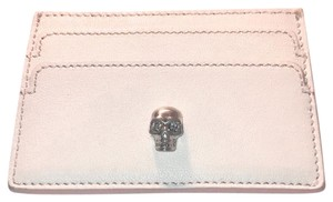Alexander McQueen Blush Leather Swarovski Skull Card Holder