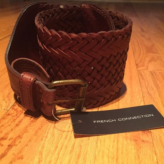 French Connection French Connection Wide Leather Weave Belt Image 2