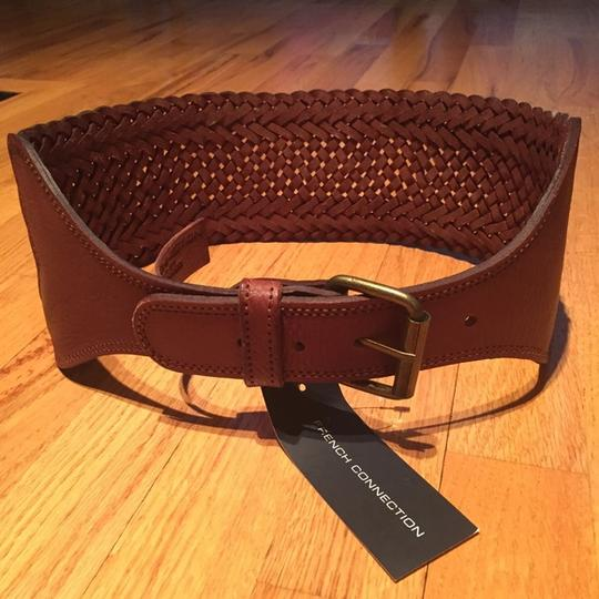 French Connection French Connection Wide Leather Weave Belt Image 3