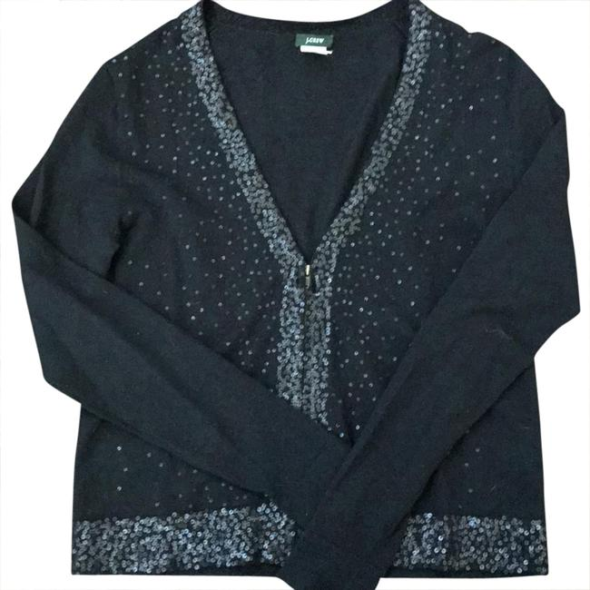 Preload https://img-static.tradesy.com/item/20851299/jcrew-sequins-zipped-cardigan-black-sweater-0-1-650-650.jpg