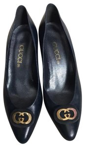 Gucci Navy Blue Pumps