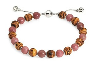 Gucci Gucci Bamboo and Rhodonite Beaded Bracelet
