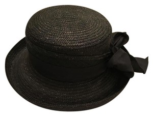 Betmar Black straw hat with bow