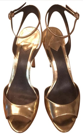 Brian Atwood Gold Mirrored Platforms Image 0