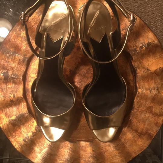 Brian Atwood Gold Mirrored Platforms Image 2