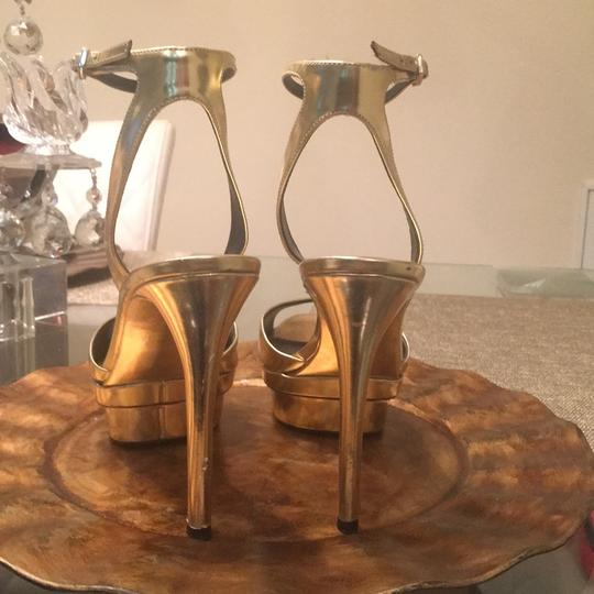 Brian Atwood Gold Mirrored Platforms Image 3
