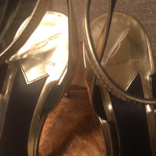 Brian Atwood Gold Mirrored Platforms Image 5
