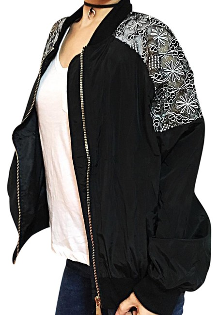 Preload https://img-static.tradesy.com/item/20851540/blk-mesh-lace-bomber-jacket-size-8-m-0-3-650-650.jpg