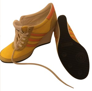 Jeremy Scott yellow , orange Wedges