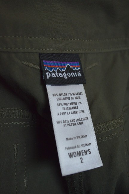 Patagonia Patagonia Nylon Stretch Hiking Skirt Drab Olive Size 2 40-UPF sun protection