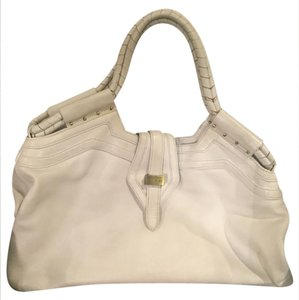 Botkier Gold Hardware Leather Tote in White
