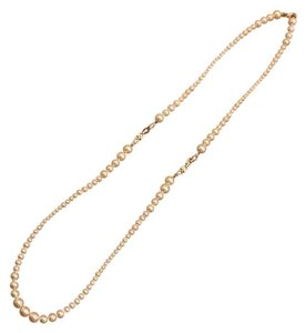 Salvatore Ferragamo Pearl Gancini Station Necklace